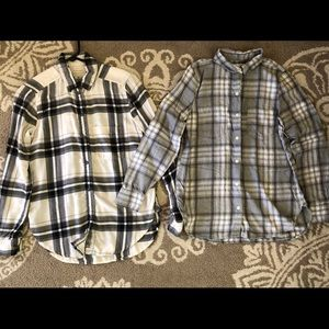 AE and ON Plaid Flannel Shirts XS
